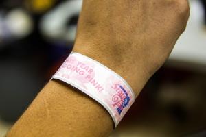 South Carolina pink wristband